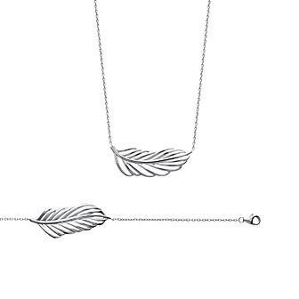 Bracelet/collier argent 925/000 rhodiée