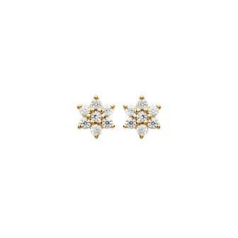 Boucles d'oreilles plaqué-or 750/000 3 microns oz