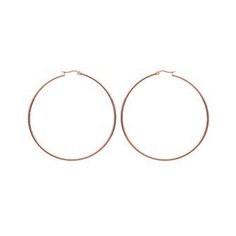 Créoles acier 316 L métal rose