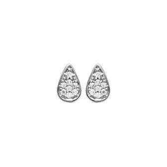 Boucles d'oreilles argent rhodiée 925/000 oz