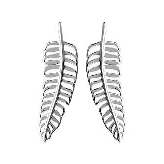 Boucles d'oreilles argent rhodiée 925/000