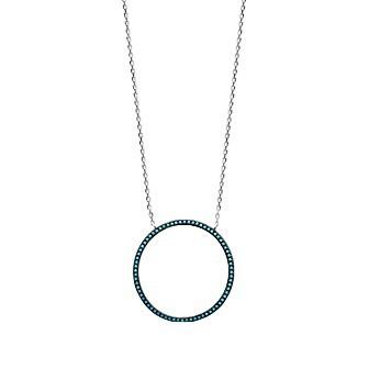 Collier argent 925/000 rhodiée pierres synthétiques - IHBIDFEF