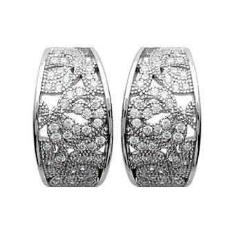 Boucles d'oreilles argent 925/000 rhodiée perles biwa