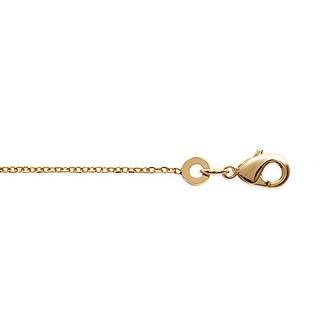 Chaîne plaqué-or 3 microns maille forçat diamantée