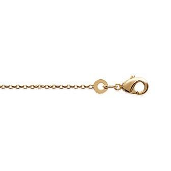 Bracelet plaqué-or 750/000 3 microns maille forçat diamantée