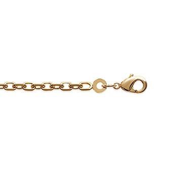 Bracelet plaqué-or 750/000 3 microns maille forçat diamantée CCFAIABI