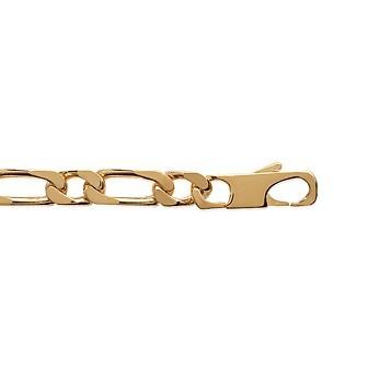 Bracelet plaqué-or 750/000 3 microns maille figaro diamantée