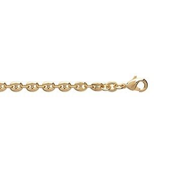 Bracelet plaqué-or 750/000 3 microns maille grain de café soudée - CBEABABI