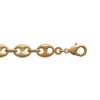 Bracelet plaqué-or 750/000 3 microns maille grain de café serrée