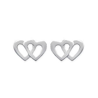 Boucles d'oreilles argent 925/000 rhodiée HECDDG