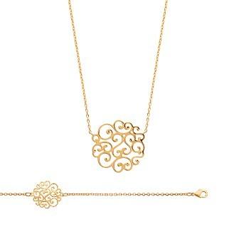 Bracelet femme plaqué-or 750/000 3 microns