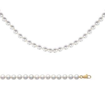 Bracelet femme plaqué-or 750/000 3 microns imitations perles Majorque