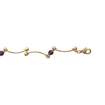 Bracelet plaqué-or 750/000 3 microns cristal