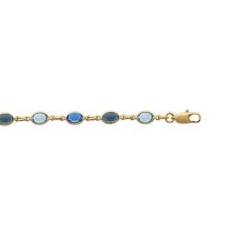 Bracelet femme plaqué-or 750/000 3 microns cristal