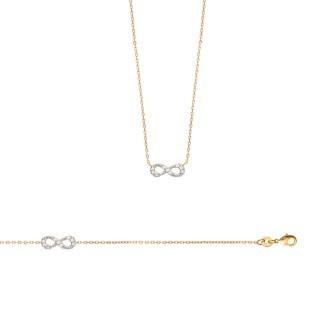 Bracelet femme plaqué-or 750/000 3 microns bicolore oz