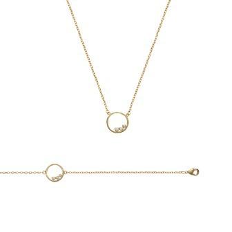 Bracelet/collier plaqué-or 750/000 3 microns oz