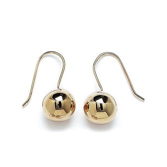 Boucles d'oreilles plaqué or 750/000 3 microns CEAGBAA
