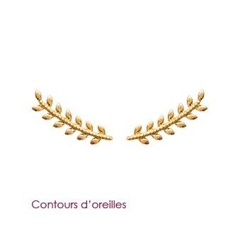 Boucles d'oreilles plaqué or 750/000 3 microns contour