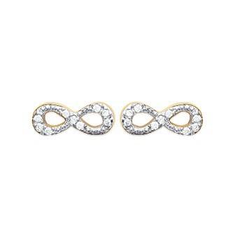 Boucles d'oreilles plaqué or 750/000 3 microns bicolore oz