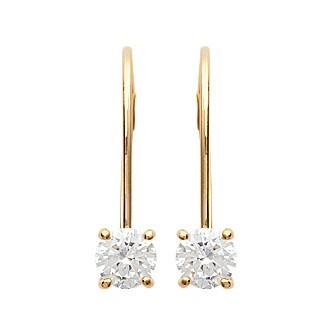 Boucles d'oreilles plaqué or 750/000 3 microns oz