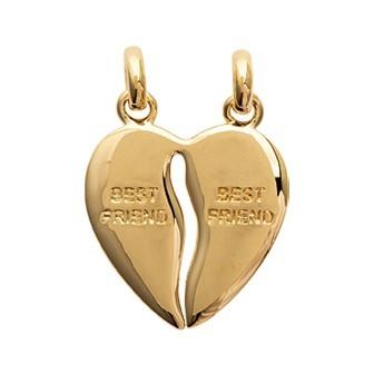 Pendentif coeur plaqué-or 750/000 3 microns