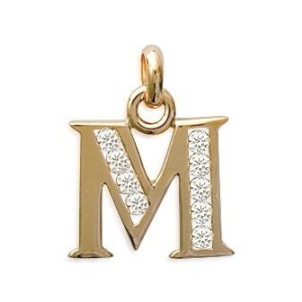 Pendentif plaqué-or 750/000 3 microns oz alphabet CIGABBABD