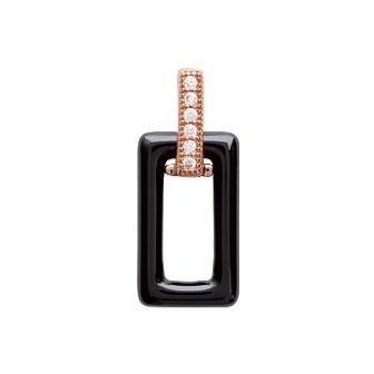 Pendentif plaqué-or rose 750/000 3 microns oz céramique CHFDDAH