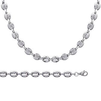 Bracelet/chaîne collier acier 316 L maille marine - BJAJFHCC