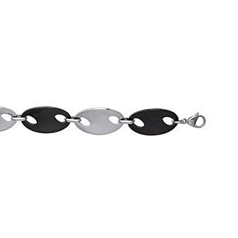 Bracelet acier 316 L ruthénium