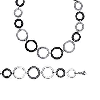 Bracelet femme acier 316 L ruthénium BJCJDIBJ