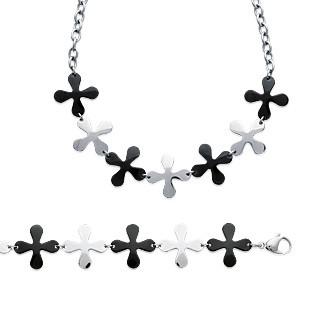 Bracelet/collier acier 316 L ruthénium - DBEABFBJ