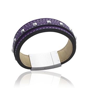 Bracelet acier 316 L cuir - DBACADBI