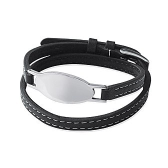 Bracelet acier 316 L cuir BJBBBCBI