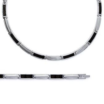 Bracelet/chaîne acier 316 L carbone - BJAEJICB
