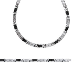 Bracelet/chaîne acier 316 L carbone - BJAEJJCB