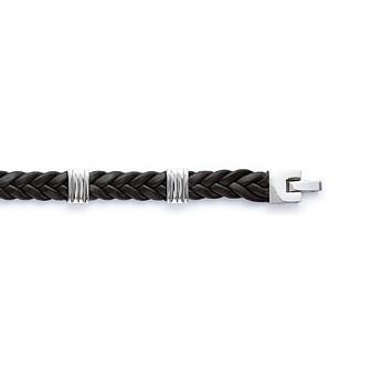 Bracelet acier 316 L cuir BJAIFCCB