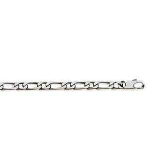Bracelet argent 925/000 maille figaro 1 maillon diamantée 4 faces BDBHFCCB
