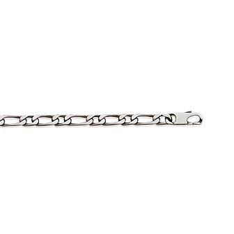 Bracelet argent 925/000 maille figaro 1 maillon diamantée 4 faces