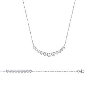 Collier argent 925/000 rhodiée oz micro serti