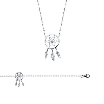 Bracelet argent 925/000 rhodiée pierres synthétiques