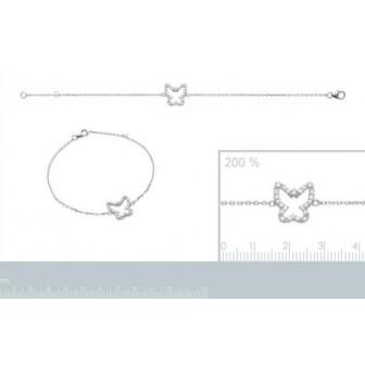 Bracelet argent 925/000 rhodiée oz