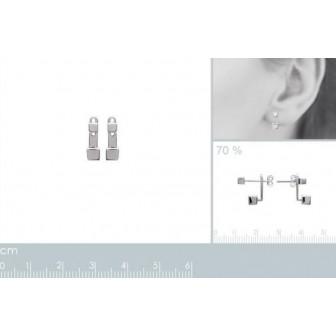 Lobes d'oreilles argent 925/000 rhodiée