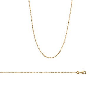 Collier femme plaqué-or 750/000 3 microns 29089745