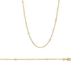Collier femme plaqué-or 750/000 3 microns 29089845