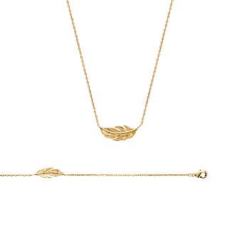 Collier femme plaqué-or 750/000 3 microns 92135345