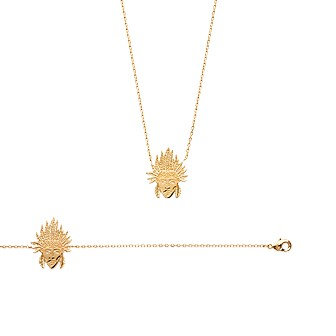 Collier femme plaqué-or 750/000 3 microns 92140445