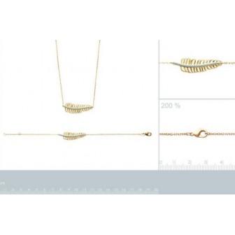 Collier femme plaqué-or 750/000 3 microns et pierres synthétiques 97178845