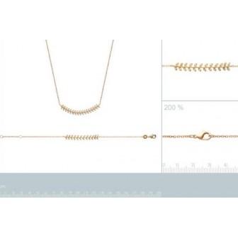Collier femme plaqué-or 750/000 3 microns oz 97157645