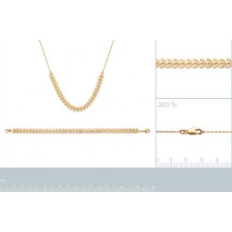 Collier femme plaqué-or 750/000 3 microns 29090942