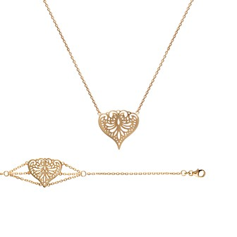 Collier femme plaqué-or 750/000 3 microns 92119545